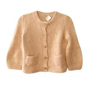 Chanel Vintage Cream and Pink Cardigan Sweater 4